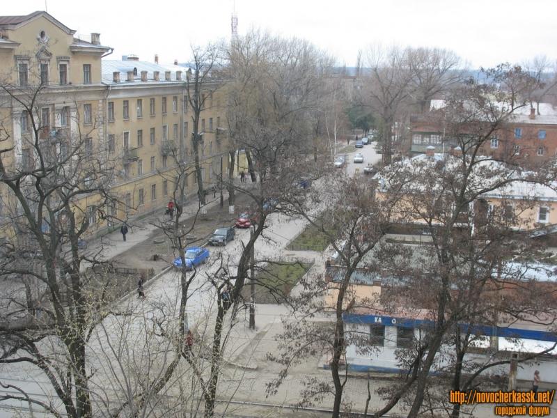 Просвещения. Вид в сторону Михайловской из окна Робототехнического корпуса ЮРГТУ (НПИ)