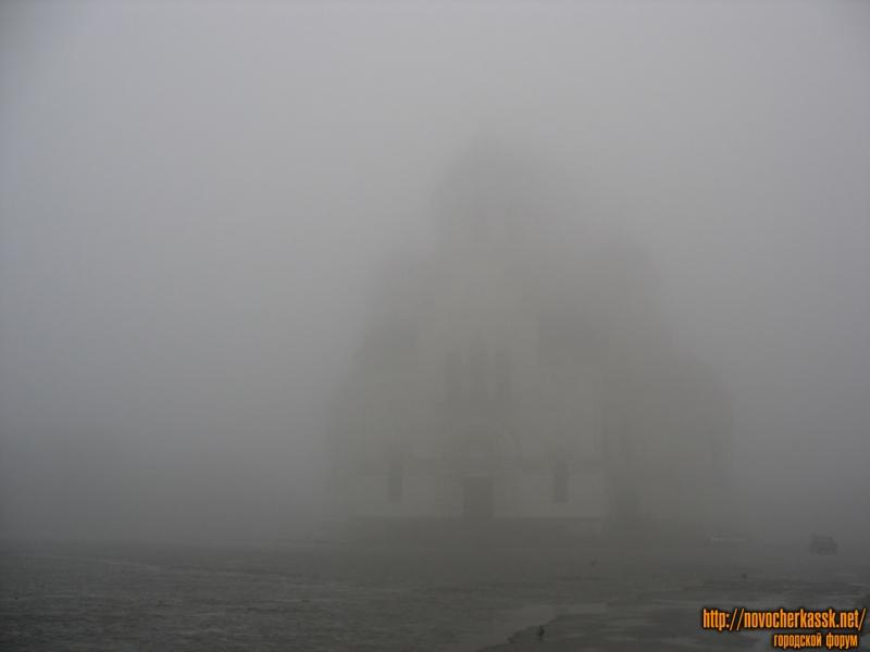 Туманная площадь Ермака и собор