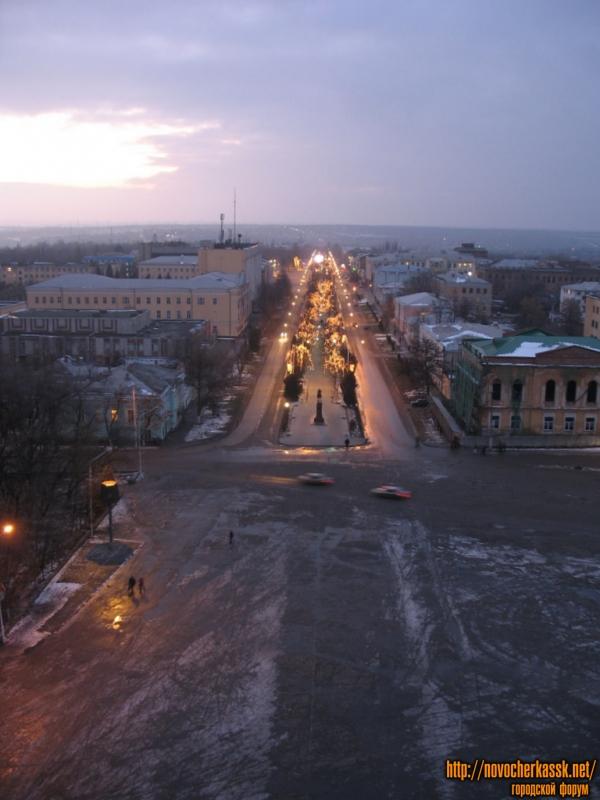 Вид с собора. Проспект Платовский