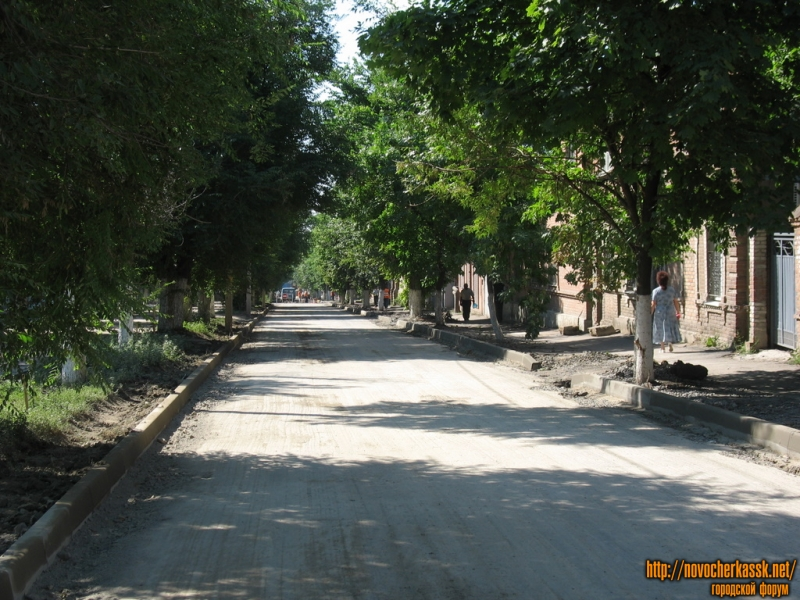 Ремонт дороги на улице Пушкинской