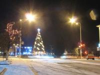 Елка перед памятником Платову