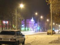 """Московская. Подсвеченное здание ТЦ """"Центральный"""""""