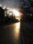 Проспект Баклановский в лучах закатного солнца