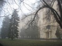 Главный корпус ЮРГТУ (НПИ) в тумане