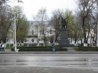 Памятник атаману Платову на фоне Атаманского дворца