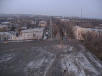 Вид с собора. Площадь Ермака, памятник Ермаку и проспект Ермака