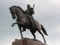 Матвей Иванович Платов на коне