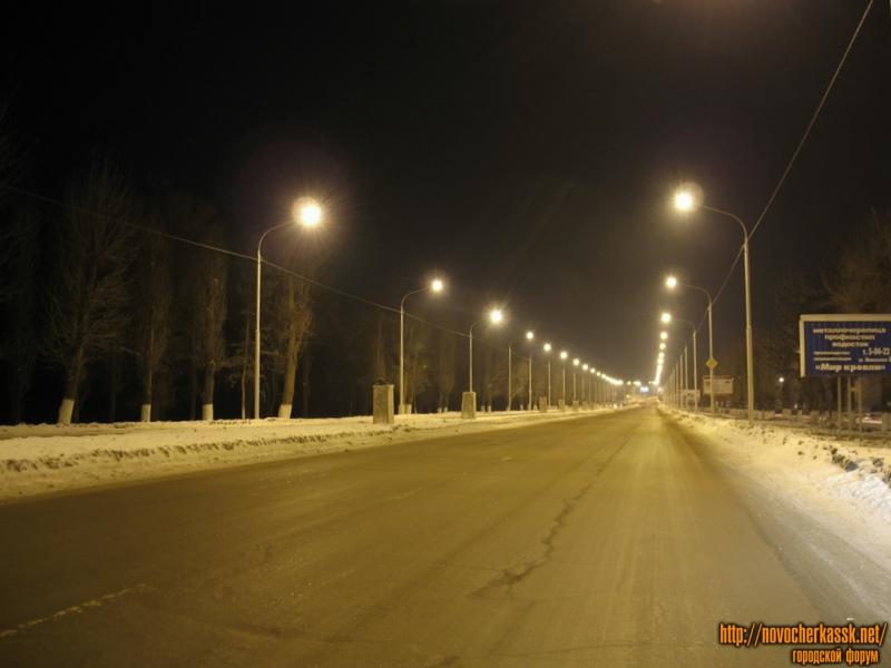 Баклановский проспект вдоль Черемушек