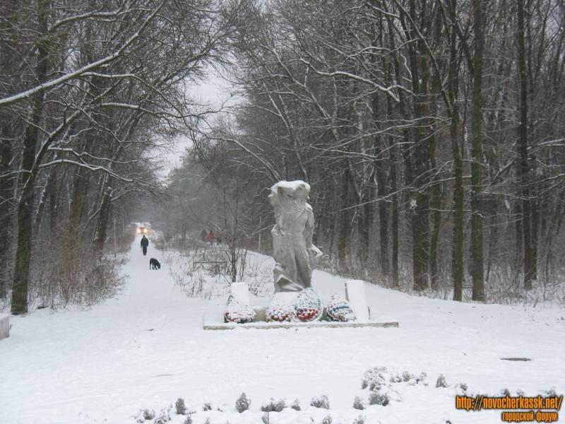 Памятник воинам-интернационалистам в роще, проспект Баклановский