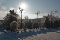 Памятник Платову на коне, проспект Платовский