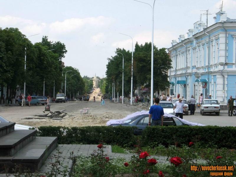 Замена коммуникаций и асфальта на Московской, 2005