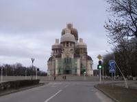 Золочение куполов собора в Новочеркасске