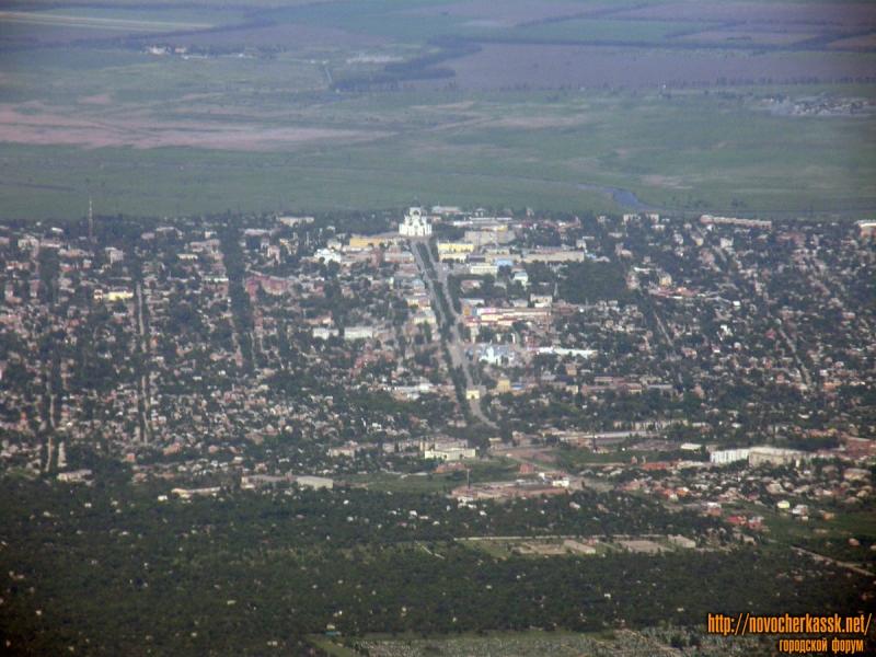 Собор и Платовский проспект с самолета