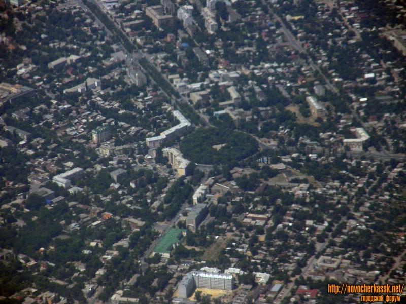 Троицкая площадь с самолета