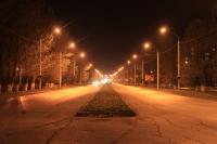 Баклановский ночью. Вдоль Рощи
