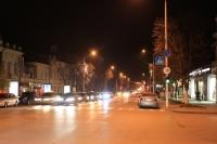 Московская ночью. Вид с улицы имени Генерала Лебедя