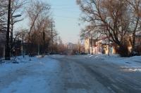 Улица Орджоникидзе, между Платовским проспектом и Александровской. Вид на ЮРГТУ (НПИ)