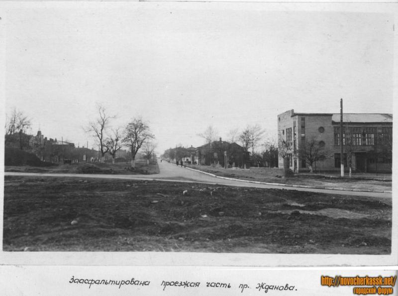 Проспект Жданова (Баклановский). Вид с пл. Троицкой