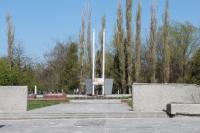 Вечный огонь на городском кладбище
