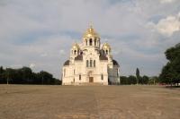 Собор в Новочеркасске с золотыми куполами