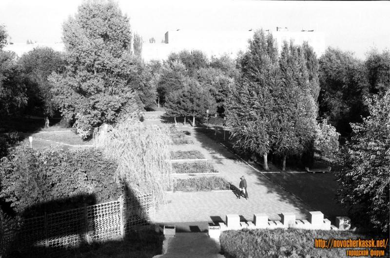 Вид с Кургана Славы. Александровский сад. 9 октября 1990 г.