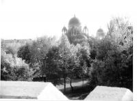 Александро-Невский храм. Вид с Кургана Славы. 9 октября 1990 г.