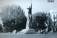 Памятник Ермаку. 11 октября 1990 г.