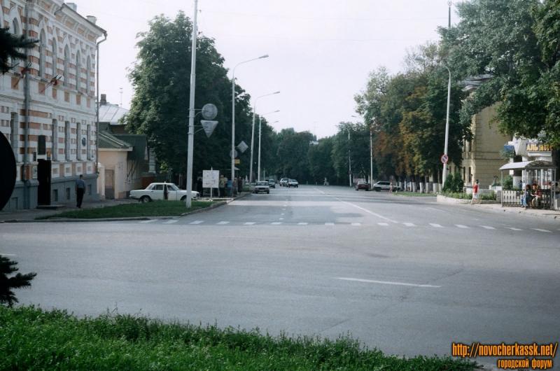 Вид на ул. Московскую с ул. Троицкой. 25 августа 2004 г.