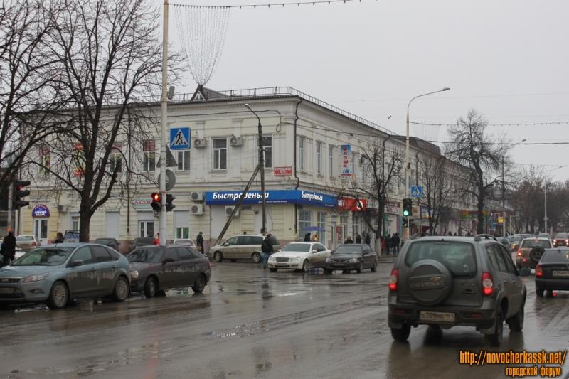 Перекресток Московской и ул. Комитетской