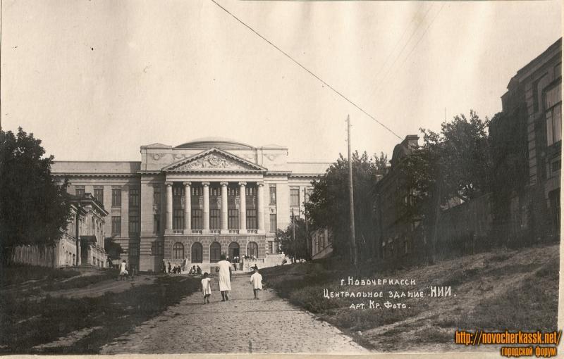 НПИ. Главный. Вид с ул. Орджоникидзе. 1937 год