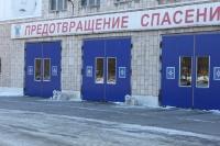 Ул. Пушкинская. Снежные пушки перед пожарной частью