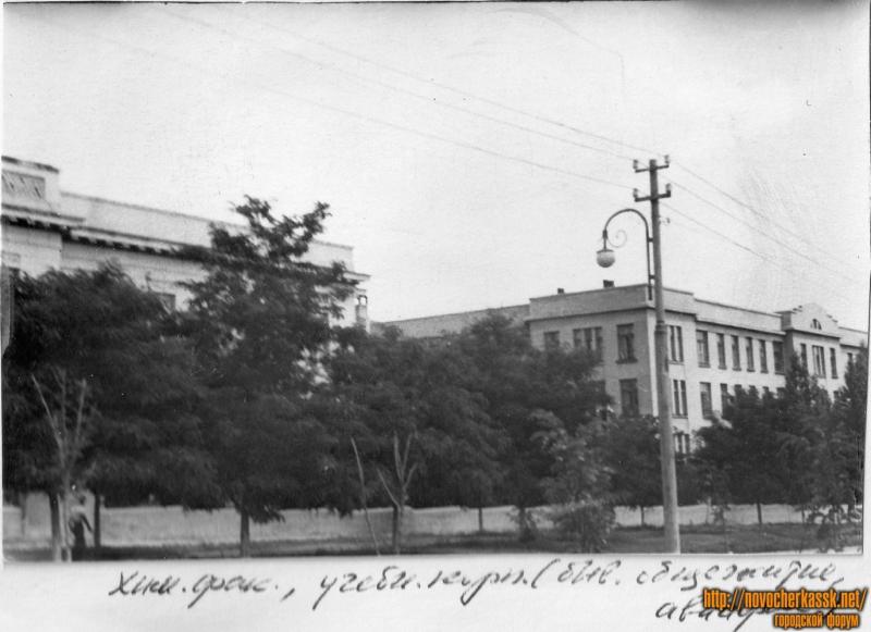 Химфак, РТ (ранее авиафак, бывшее общежитие). Вид с ул. Богдана Хмельницкого. 1954 год