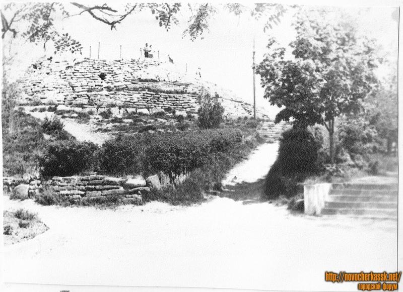 Курган в Александровском парке. 1970 год