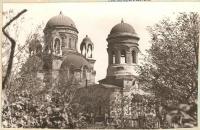 1970е.  Александро-Невский храм. Вид из Александровского парка