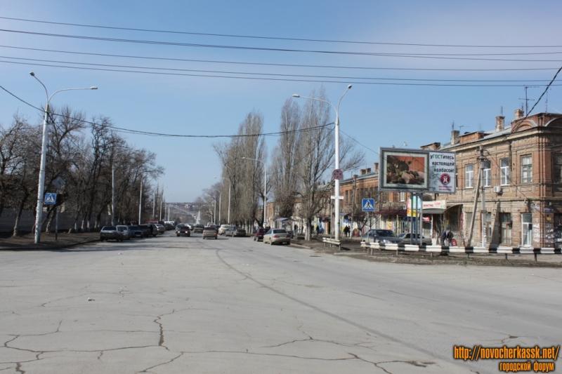 Вид проспекта Платовского в сторону Азовского рынка