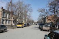 Вид ул. Орджоникидзе от пр. Платовского в сторону ЮРГТУ