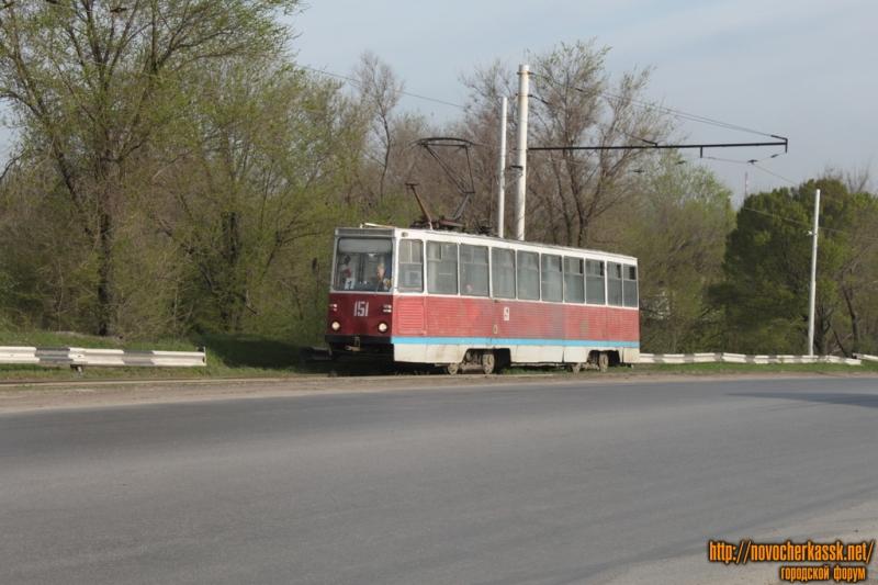 Трамвай на мосту через Тузлов