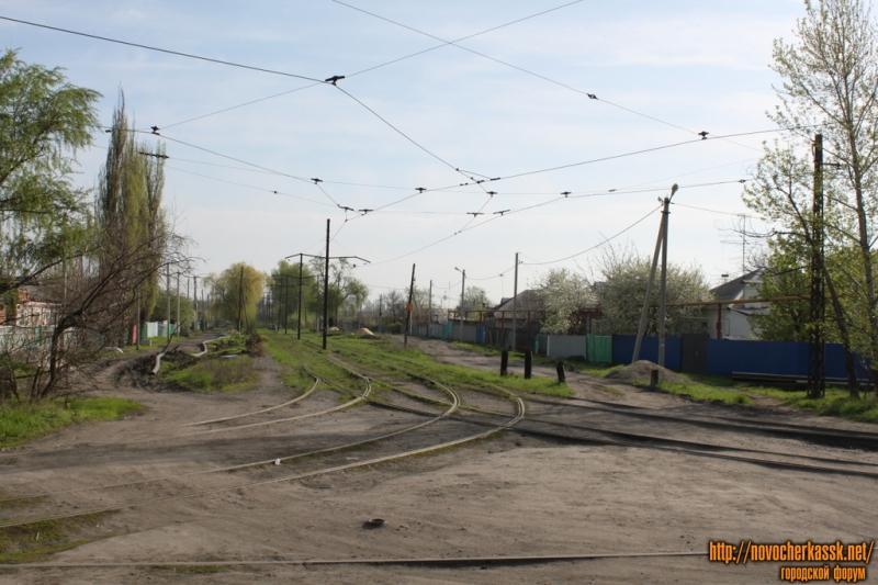 Трамвайный разворот на пересечении улицы Трамвайной и Войкова