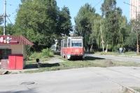 Трамвай на пересечении Троицкой и Михайловской