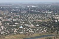 Вид с воздуха на Хотунок, Электродный