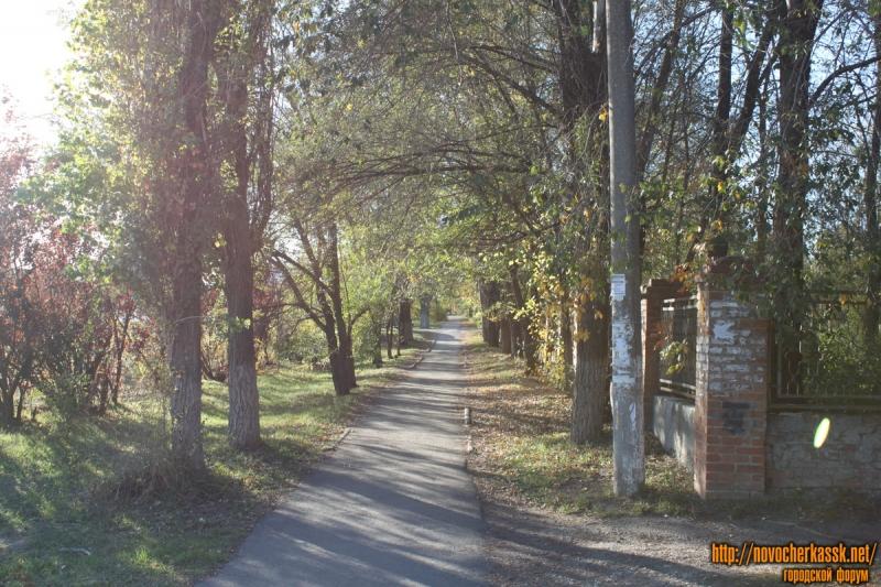 Пешеходная дорожка вдоль пр. Баклановского от пер. Магнитного