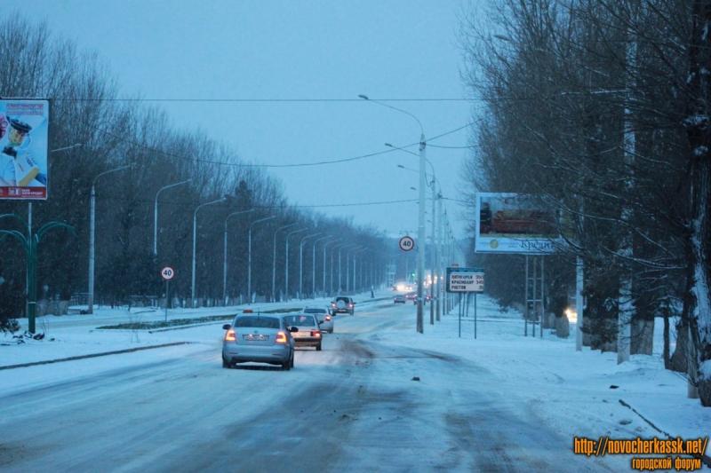 Проспект Баклановский вдоль рощи