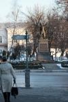 Уличные указатели на углу Платовского и Московской. Установлены в марте 2013 года