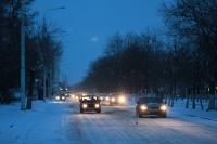Весенний снегопад. Проспект Баклановский