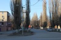 Вид на переулок Гайдара с проспекта Баклановского
