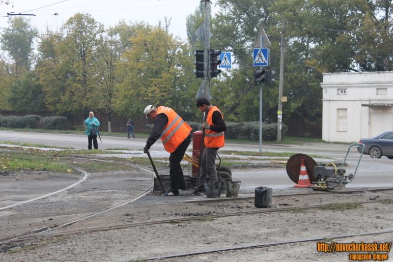 Ремонт трамвайных путей на 26 Бакинских комиссаров