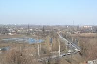 Вид на мост через Тузлов и Хотунок