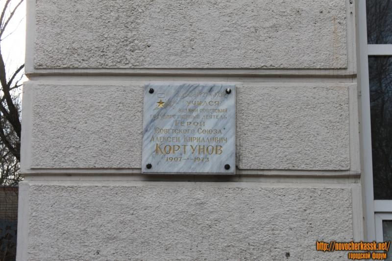Пушкинская. НГМА. Мемориальная длоска Кортунову