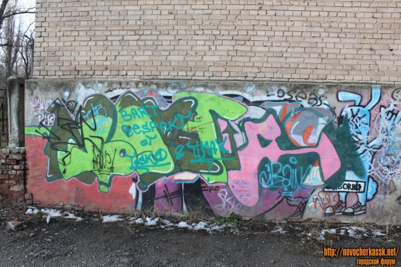 Граффити. Улица Бакунина, здание общежития №2 НПИ