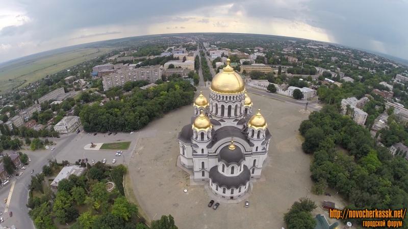 Собор в Новочеркасске с воздуха
